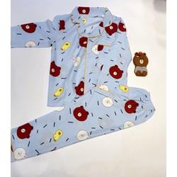 Bộ ngủ Pyjama thái Tay dài quần dài