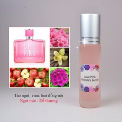 [dạng lăn] Tinh Dầu Nước Hoa Pháp Love Pink By Victoria Secret