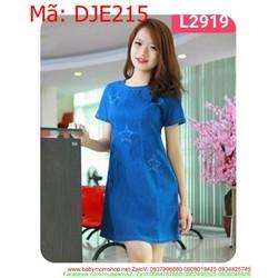 Đầm jean nữ wash hình ngôi sao trẻ trung DJE215