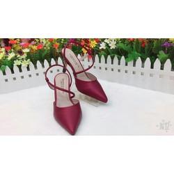 giày cao gót bít mũi dây bán nguyệt cg 889