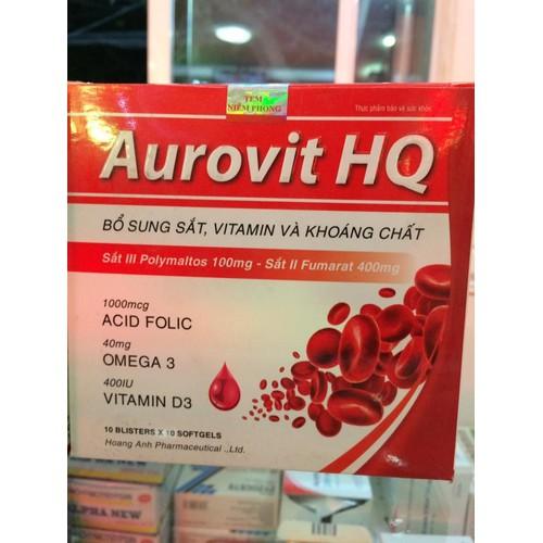 viên uống bổ máu Aurovit HQ hộp 100 viên - 5294725 , 8800913 , 15_8800913 , 280000 , vien-uong-bo-mau-Aurovit-HQ-hop-100-vien-15_8800913 , sendo.vn , viên uống bổ máu Aurovit HQ hộp 100 viên