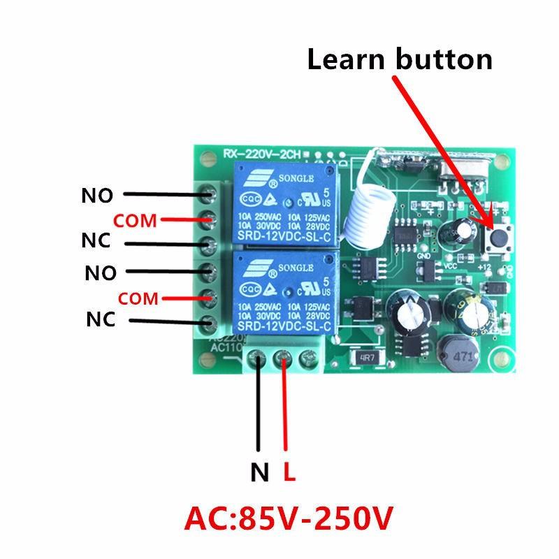 Bộ điều khiển từ xa 2 kênh 220V 3
