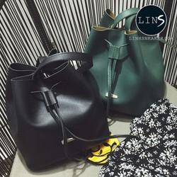 Túi đeo nữ balo nữ màu đen màu xanh rêu thời trang hot mùa hè