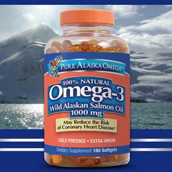 Viên dầu cá hồi Pure Alaska Omega 3 -180 viên hàng xách tay của Mỹ