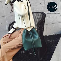 Túi đeo nữ balo nữ màu xanh rêu hot mùa hè cho bạn nữ phong cách