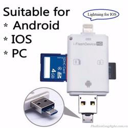 Đầu đọc thẻ nhớ đa năng i-Flash Device 3in1 cho Điện thoại, Máy tính