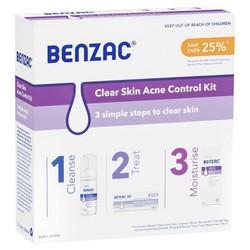Bộ sản phẩm trị mụn Benzac Clear Skin Acne Control Kit
