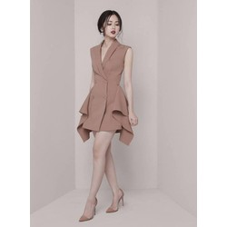 Đầm xòe kiểu vest