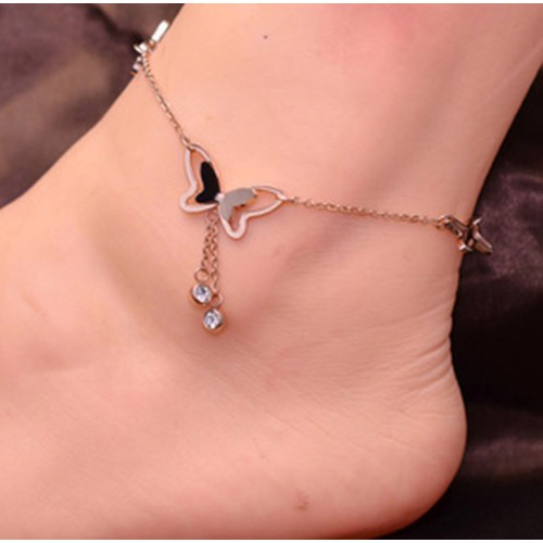 Lắc chân titan đính bướm thời trang - 5344877 , 8904670 , 15_8904670 , 179000 , Lac-chan-titan-dinh-buom-thoi-trang-15_8904670 , sendo.vn , Lắc chân titan đính bướm thời trang