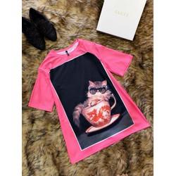 áo phông mèo cực xinh