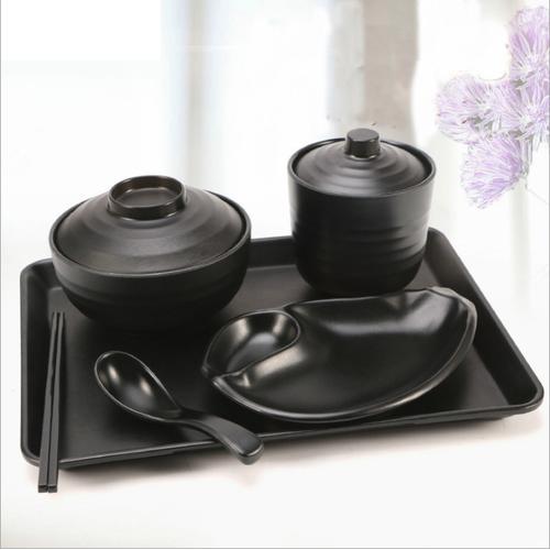 Chén ăn nhanh, bộ chén đĩa 7 món cao cấp cổ điển phong cách Japan