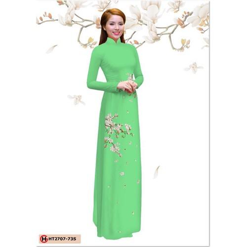 Vải áo dài in hoa đơn giản