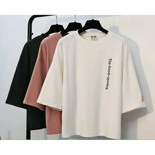 áo thun thêu chữ dọc