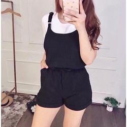 Set áo thun + yếm short