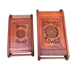 Khay trà gỗ Hương cao cấp loại lớn