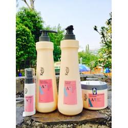Bộ 4 sản phẩm chăm sóc tóc gội, xả, hấp dầu, serum KELLA A+ 750ml