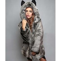 áo khoác lông phối nón tai gấu Mã: AO3361