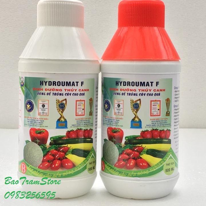 Cặp 1lít dung dịch thuỷ canh HydroUmart F chuyên dùng cho cây ăn quả