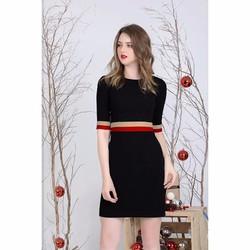 Đầm Body Tay Lỡ Phối Màu