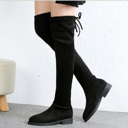 Boot nữ cổ cao đế trệt đơn giản hiện đại