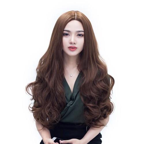 tóc giả 2 mái cao cấp chịu nhiệt- tặng lưới chum tóc- hình thật
