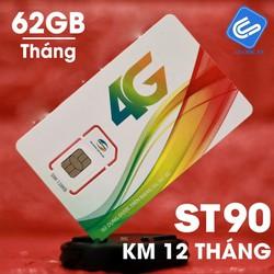 [FREE THÁNG ĐẦU][FREE SHIP TOÀN QUỐC] SIM 4G Viettel ST90 đầu số 09xxxx Tặng 30GB Tháng