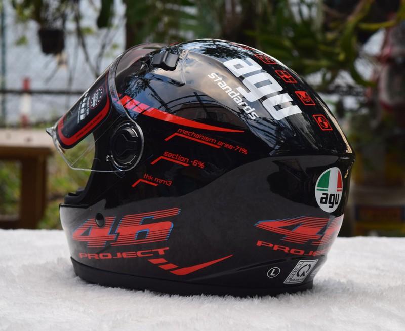 Nón Moto Agu Cao Cấp Vi Tính Phát đạt