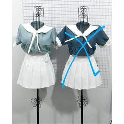 Sét bộ áo kiểu và chân váy xòe