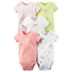 Set 5 bodysuit cộc tay Carters made in Cambodia