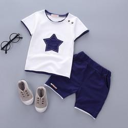 Set áo quần thun ngắn hình ngôi sao bé trai
