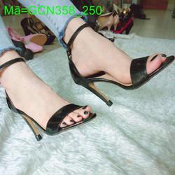 Giày cao gót nữ hỡ mũi hai mãnh da bóng cực đẹp diệu dàng GCN358