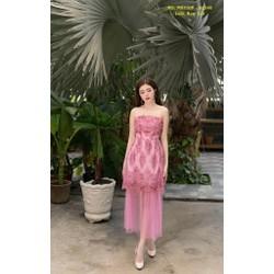 Đầm Maxi Cúp Ngực Phối Lưới Ren Sang Trọng