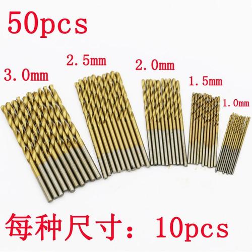 Bộ 50 mũi khoan mini đường kính 1mm - 3mm