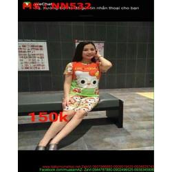 Đồ mặc nhà nữ quần lửng hình mèo kitty dễ thương NN532