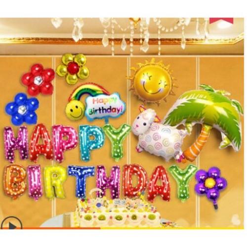 Bóng trang trí sinh nhật hoành tráng đầy đủ như hình cho bé