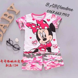 Set bộ đồ bé gái xuất Hàn Chuột Mickey