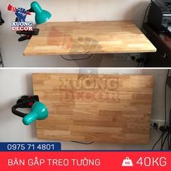 Bộ bàn gấp treo tường cho nhà chung cư80x40cm chịu lực đến 40kg
