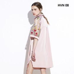 Váy đầm sơ mi phối tay hoa cao cấp cực đẹp cho các nàng