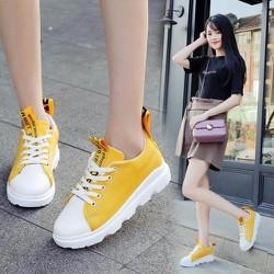 Giày thể thao nữ vàng thời trang