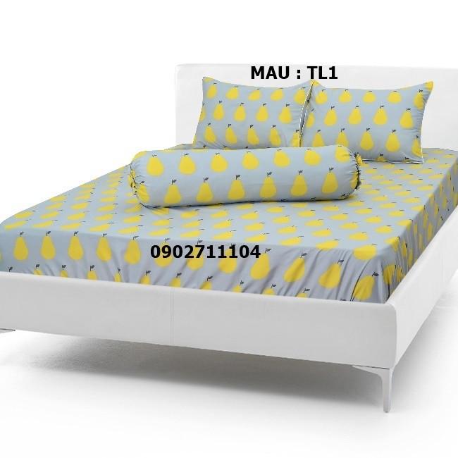 bộ ga cotton caro xanh -  crx01 7