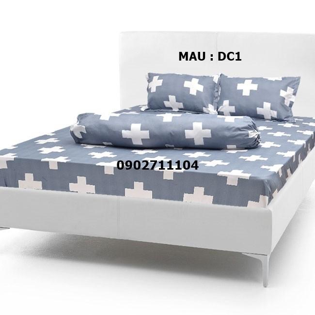 bộ ga cotton caro xanh -  crx01 10