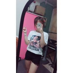 Áo phông hình cô gái
