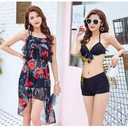 Bikini nữ tính diệu dàng hàng nhập set 3 món