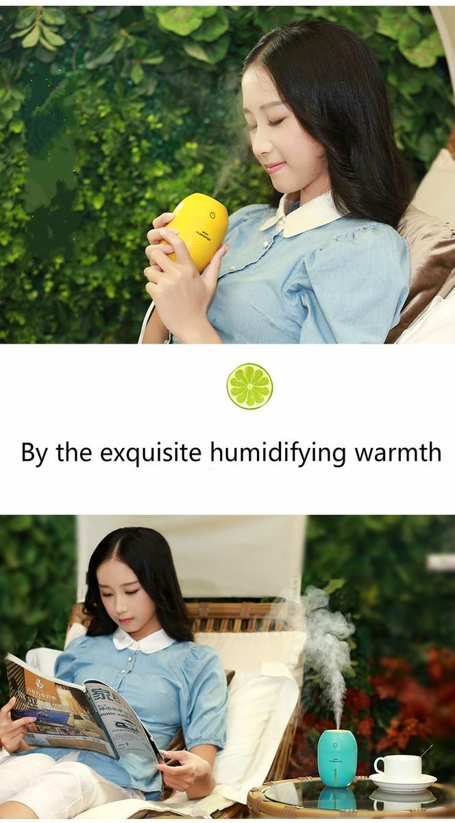 Máy Phun sương Tinh dầu Quả chanh kiêm đèn ngủ Lemon Humidifier 3