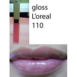 Son siêu dưỡng Loreal lip gloss màu 110 hàng xách tay của Mỹ