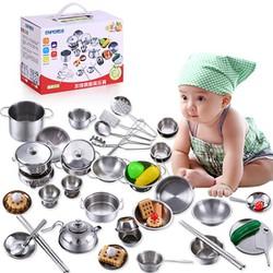 Bộ đồ chơi nấu ăn 40 món bằng inox