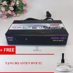 Đầu thu Kỹ thuật số DVB-T2 Hùng Việt HD-789s Karaoke tặng Anten DVB T2