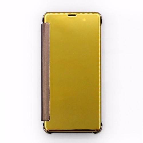 Bao da Samsung Galaxy A8 Plus 2018 Clear View vàng