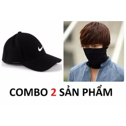 Exo Luhan Shop Bộ 2 Sản Phẩm Nón Và Khẩu Trang đa Năng đi Phượt đen