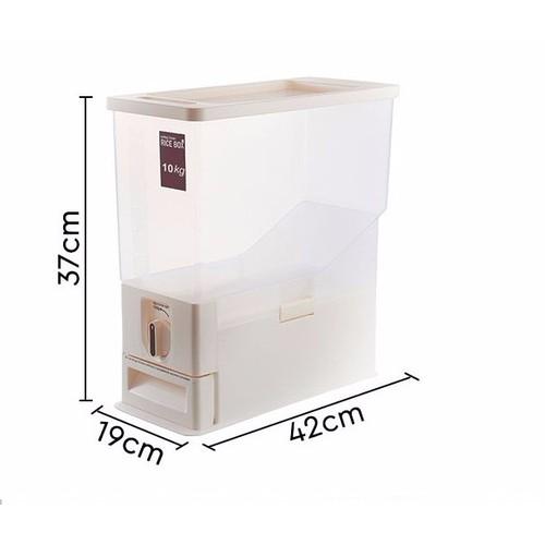 Thùng đựng gạo thông minh 10kg Tashuan
